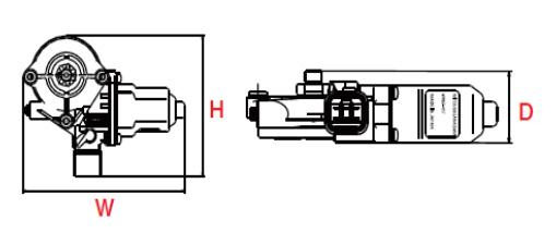 自動車用パワーウィンドウモーター WR07