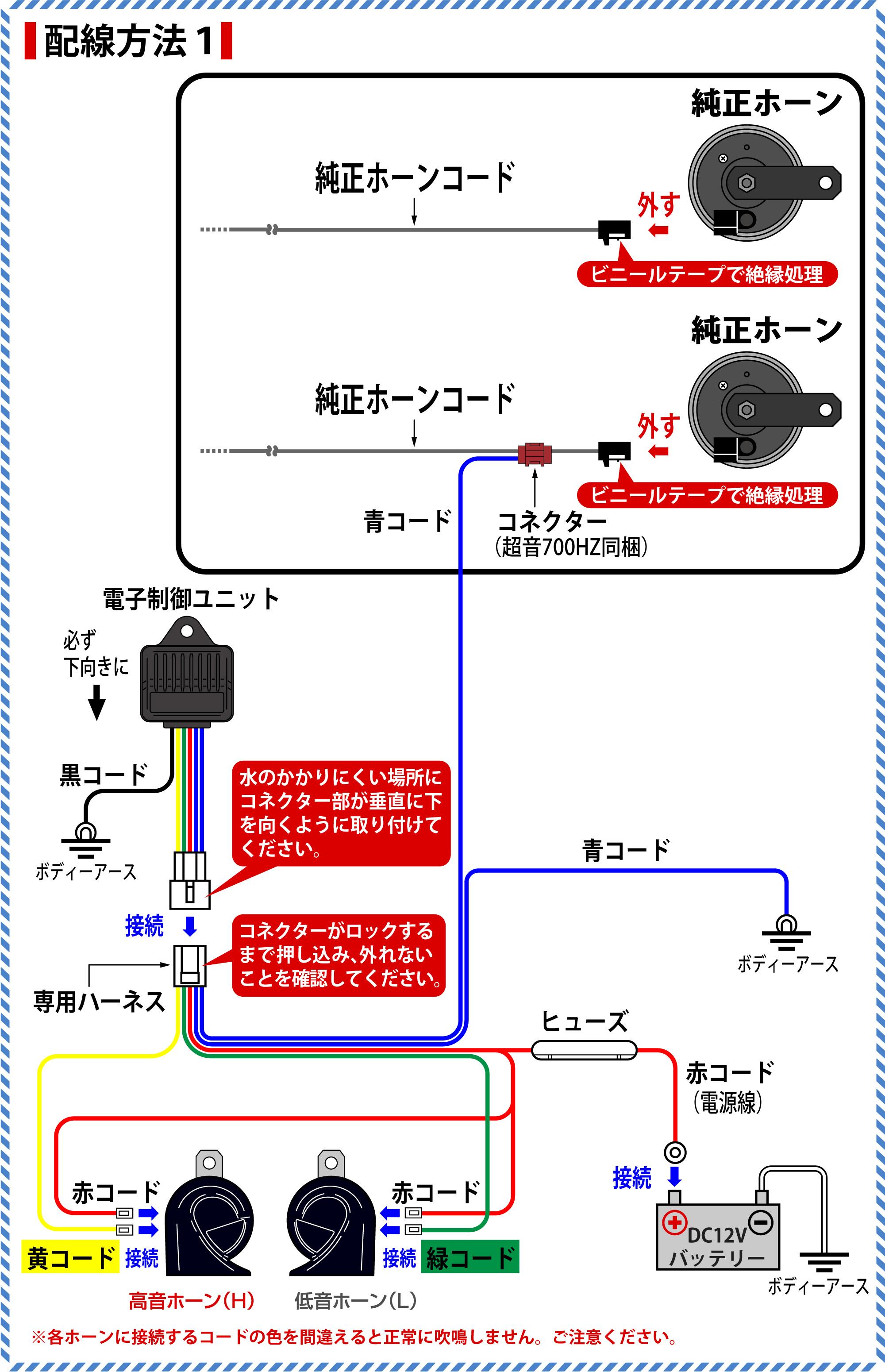 ハイラックス(GUN125)のホーン交換