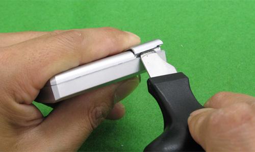 電池蓋の開け方